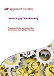 Lean in Supply Chain Planning - Capgemini