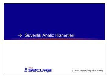 Güvenlik Analiz Hizmetleri