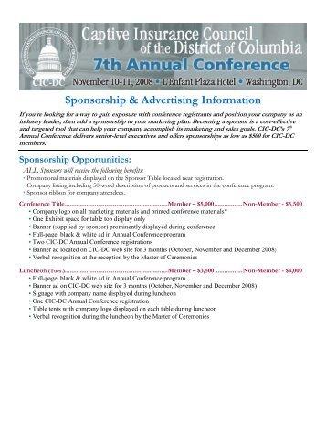 Sponsorship & Advertising Information