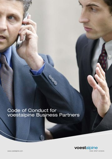 Code of Conduct for voestalpine Business Partners