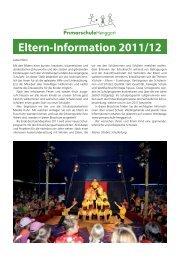 Eltern-Information 2011/12 - Primarschule Henggart