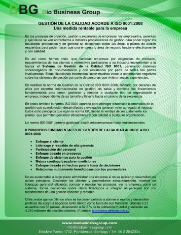 Articulo ISO9001 nº1 - biobusinessgroup