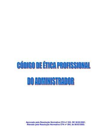 código de ética do administrador - UFSM