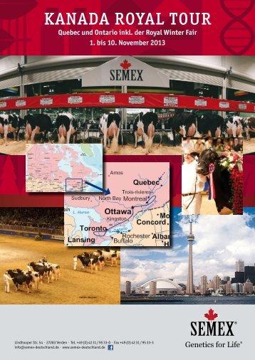 KANADA ROYAL TOUR - Semex