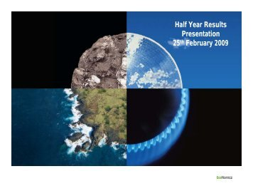 Half Year 2009 Presentation - WorleyParsons.com
