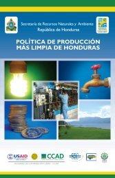 Politica de Producción mas Limpia de Honduras,2010 - sistema de ...