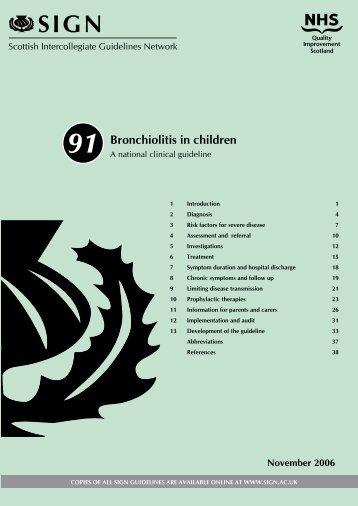 Bronchiolitis in children - Lactancia y medicamentos