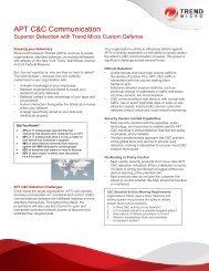 APT C&C Communication - Trend Micro