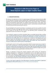 BNP Paribas - European Banking Authority