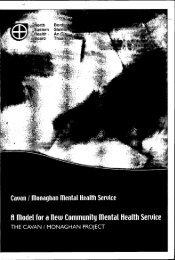 A model for a llew Community mental Health Seruice - Irish Health ...