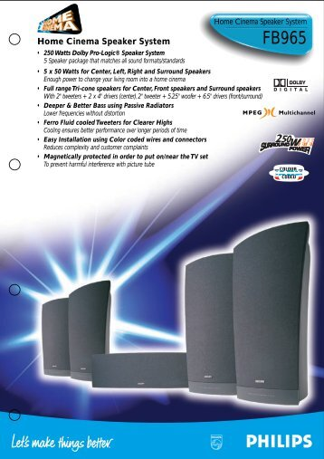 Home Cinema Speaker System - Philips
