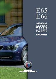 E65/E66 Parts & Accessory - BMW Alpina