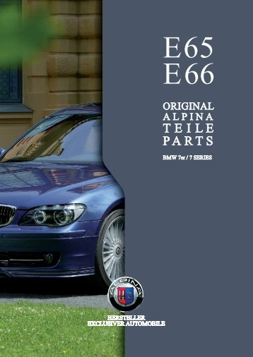 Parts And Accessories Installation Instructions BMW Retrofit Guides - Bmw alpina accessories
