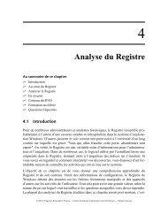 Analyse du Registre - Pearson