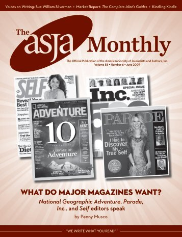 June 2009 - The ASJA Monthly