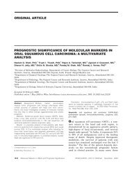 Prognostic significance of molecular markers in oral squamous cell ...