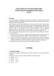 Linee guida per la preparazione della Tesi di Laurea in Ingegneria ...