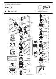 Spare parts list (50/60Hz English) - Grindex