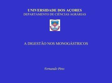 A Digestão nos Monogástricos - Universidade dos Açores