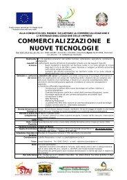 COMMERCIALIZZAZIONE E NUOVE TECNOLOGIE - Stai