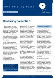 Measuring Corruption - Oxford Policy Management