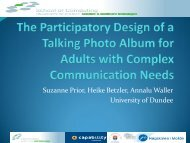 Suzanne Prior, Heike Betzler, Annalu Waller University of Dundee