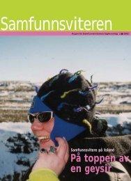 Samfunnsviteren 2/2002 - Samfunnsviterne