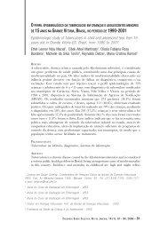 O perfil epidemiológico da tuberculose em crianças e ... - IESC/UFRJ