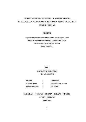 Pembinaan Kesadaran Pluralisme Agama Di Kalangan ... - idb4