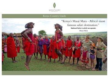Download Kenya destination guide2.7mb - Sanctuary Retreats