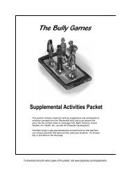 The Bully Games - Playbooks® Roleplay Reader
