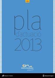 Pla d'Actuació 2013 - Costa Daurada - Diputació de Tarragona