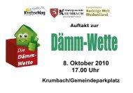 8. Oktober 2010 17.00 Uhr - Marktgemeinde Hochneukirchen ...