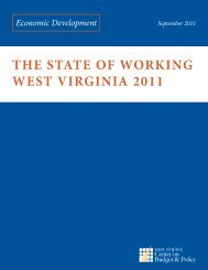 the state of working west virginia 2011 - West Virginia Center on ...
