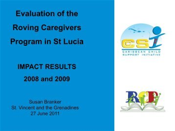 Evaluation of the Roving Caregivers Program in St Lucia impact ...