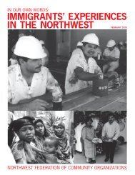 immigrants' experiences in the northwest - Alliance for a Just Society
