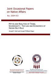 Myths and Realities of Tribal Sovereignty - Native Nations Institute ...