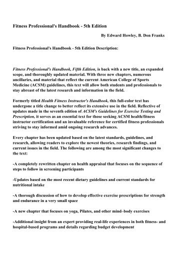 Roadwork theory and practice fifth edition pdf ebooks free fitness professionals handbook 5th edition pdf ebooks free fandeluxe Gallery