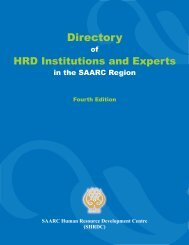 Here - SAARC Human Resource Development Centre