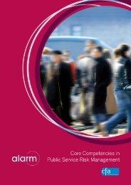 Core Competencies in Public Service Risk Management Full ... - Alarm