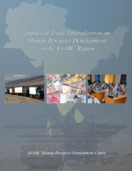 Impact of HRD on Foreign Remittances in South Asia