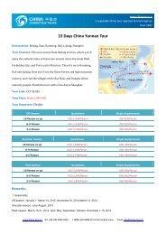 15 Days China Yunnan Tour - Yunnan Tours - China Tour