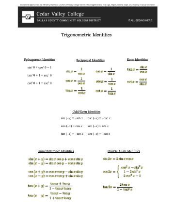 Proving Identities Worksheet - The Best and Most Comprehensive ...