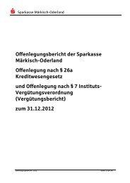 Offenlegungsbericht 2012 (PDF) - Sparkasse Märkisch-Oderland