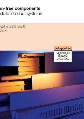 Halogen-free components/LFS. Installation duct systems - getel.gr