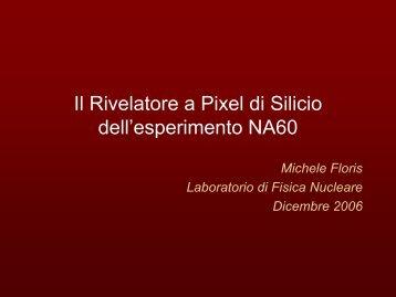 Il Rivelatore a Pixel di Silicio dell'esperimento NA60 - Gruppo 3