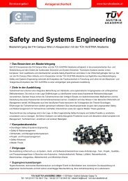 Safety and Systems Engineering - TÜV Austria Akademie