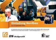Einladung Nordbau - DS Stålprofil