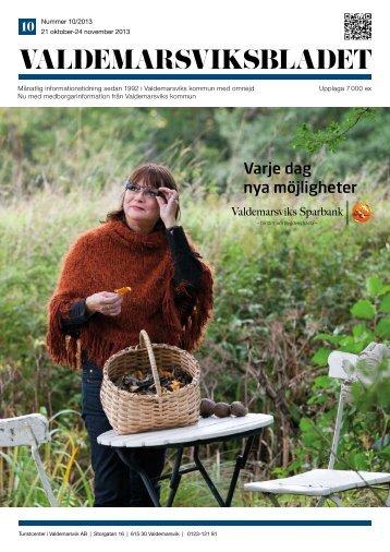 Oktober 2013 - ValdemarsviksBladet