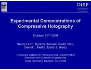 Experimental Demonstrations of Compressive Holography